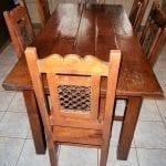antieke tafel met 6 stoelen 2