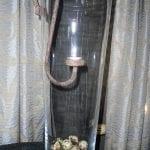 glazen vaas met hangend roet ijzeren waxcine licht 1