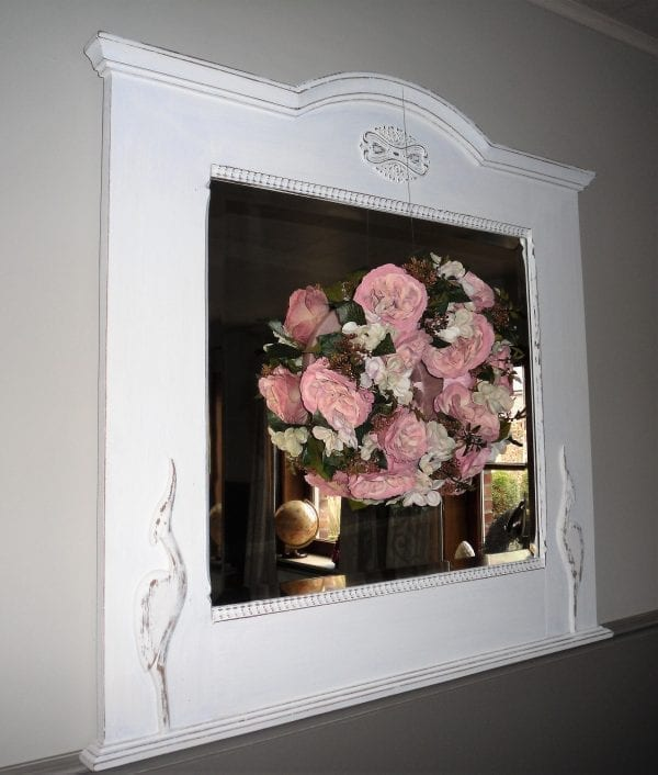 houten spiegel 84 cm x 84 cm 1