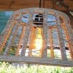 gevlochten lampenkap rond
