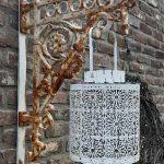 steun van gaslamp met sierlijke muurplaat 1