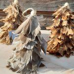 kerstboom met echte veren 1