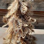 kerstboom met echte veren