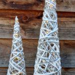 kerstboom sneeuw met led en glitter groot en klein