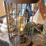 roest emmertje met lampje