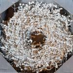 krans natuur wit kruid 35cm