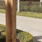 eikenpaal voor landelijke lamp4