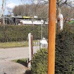 ijzeren paal voor landelijke lamp