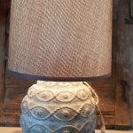 Stenen lampenvoet en kap small