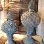 houten ornament grijsbruin Small Large