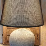 stenen lampenvoet lichtgrijs